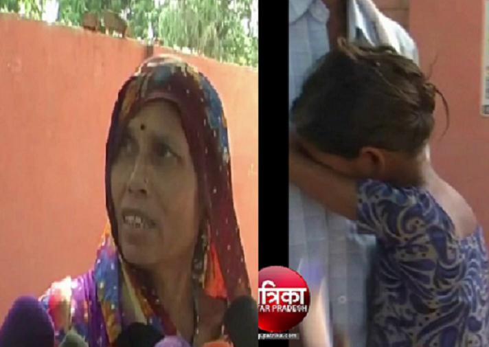 योगी राज में सात दिन से बेटियों संग धूप में बैठी है पीड़िता, दबंगों ने किया ये हाल