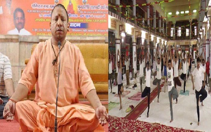 बिना योगी आदित्यनाथ के गोरखनाथ मंदिर में हुआ योग शिविर, कटक से बुलाये गये महंत शिव नाथ महाराज