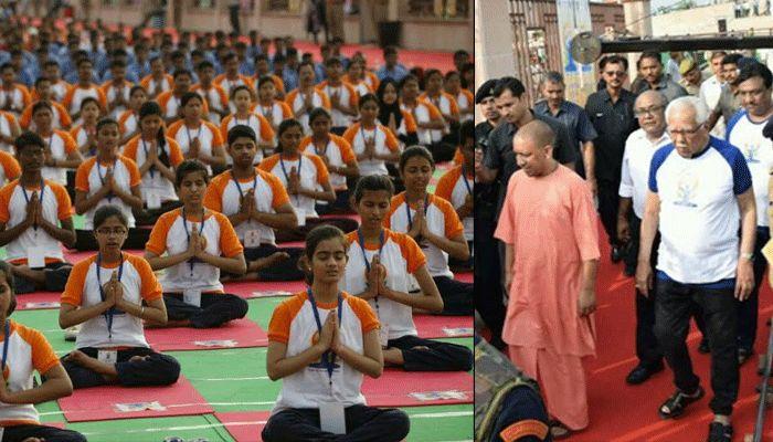 Image result for अन्तर्राष्ट्रीय योग दिवस पर मुख्यमंत्री योगी आदित्यनाथ बोले