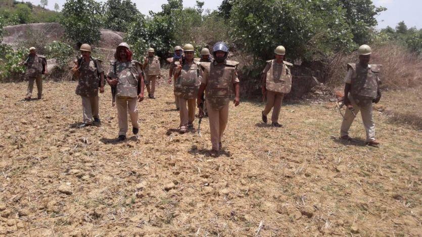 नक्सलियों की टोह लेने जंगलों में घुसी पुलिस