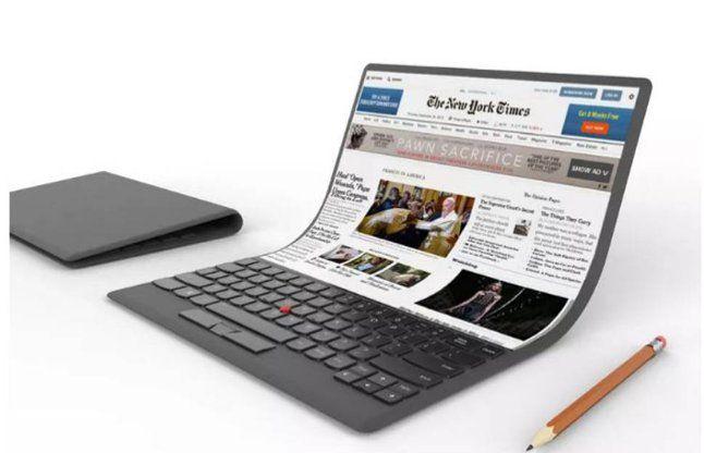 लेनोवो ने पेश किया फाइल की तरह मुडने वाले लैपटॉप का कॉन्सेप्ट