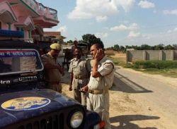 आजमगढ़में संगीनों की साये में मनाई गई ईद, तैनात रही भारी फोर्स