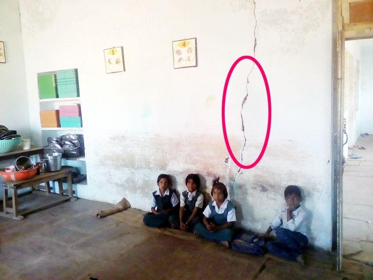 इस शिक्षा सत्र में भी जर्जर स्कूल भवनों में पढऩे को मजबूर हैं बच्चे