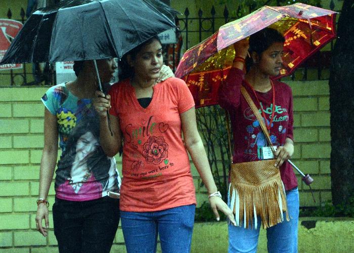 Monsoon rains in Jabalpur