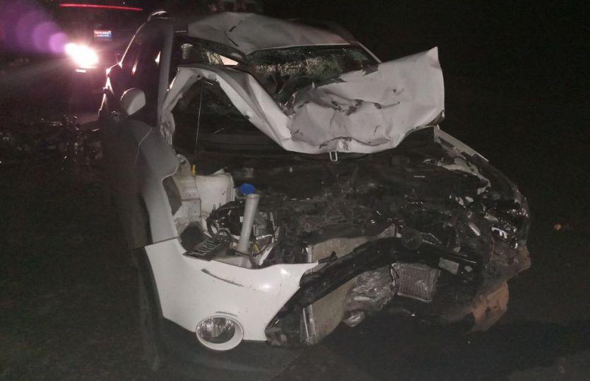 कार-बाइक में भिड़ंत, तीन की मौत