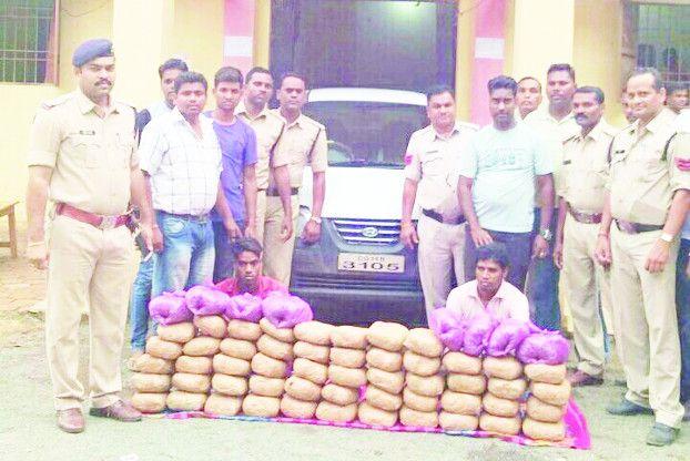 पामगढ़ पुलिस ने दो तस्करों से 60 किलो गांजा किया जब्त
