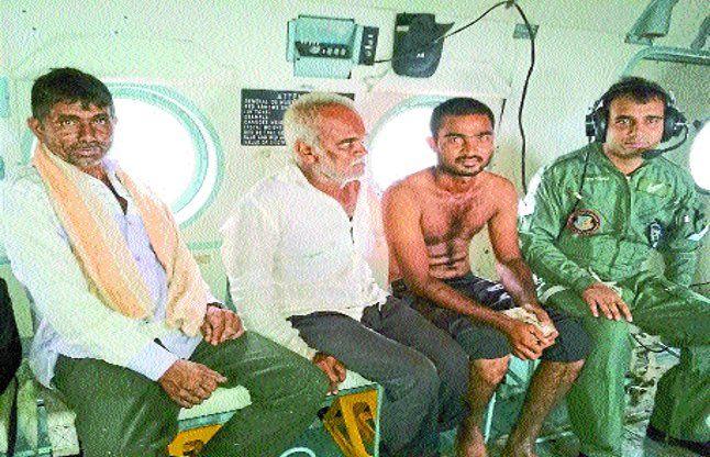 हैलीकॉप्टर, एनडीआरएफ की मदद से बचाया