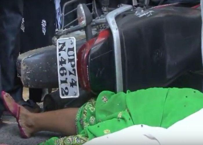 ट्रक से कुचलकर माँ-बेटे की मौत, लोगों ने काटा हंगामा