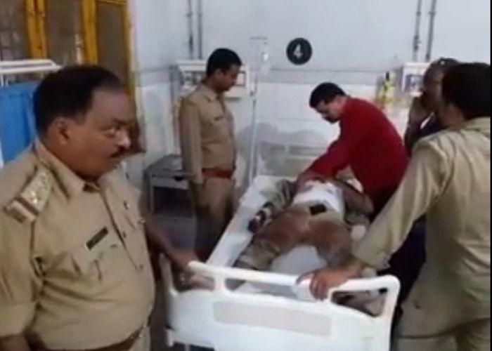 अपराधी को पकड़ने गया पुलिस बल, हादसे में एक पुलिस कर्मी की मौत सात घाय