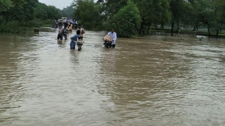 जिले के कई इलाकों में हुई बारिश, नदी नाले उफान पर