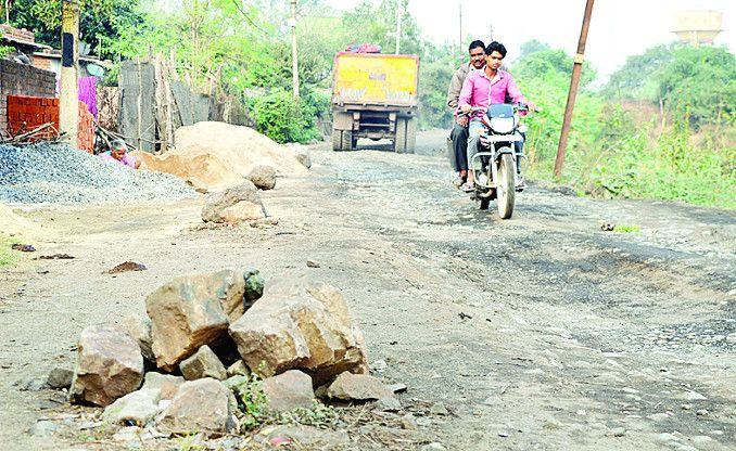 जर्जर सड़क से छह गांव के लोग प्रभावित, सुधार नहीं होने पर होगा आंदोलन