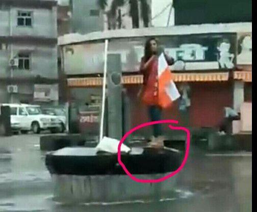 युवती ने फहराया था राष्ट्र ध्वज, विवाद करने पहुंचे युवक को चटा दी धूल, DSP को करना पड़ा हस्तक्षेप
