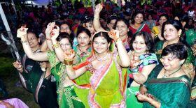 खाटू श्याम मन्दिर में धूमधाम से मना हरियाली तीज उत्सव