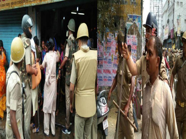 गोरखपुर में शिक्षामित्रों पर पुलिस की बर्बरता, महिलाओं को भी नहीं छोड़ा, देखें तस्वीरें