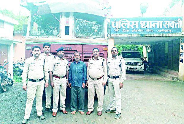 चोरी गया ट्रक को पुलिस ने एमपी के बीना शहर से किया जब्त