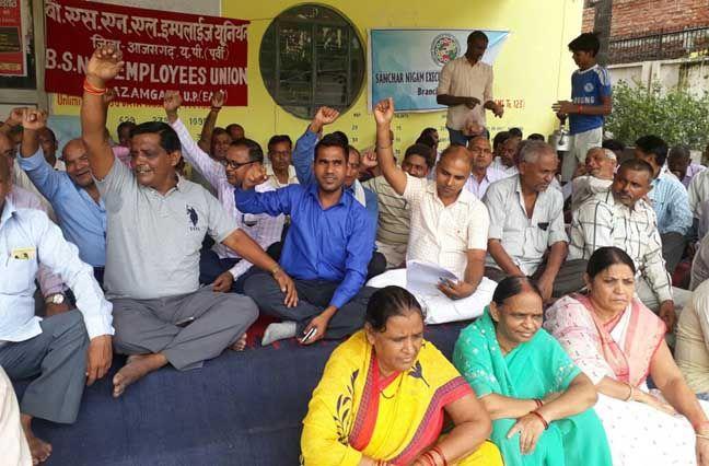 मोदी सरकार के खिलाफ लामबंद हुए बीएसएनएल कर्मचारी, आरपार की लड़ाई का आह्वान