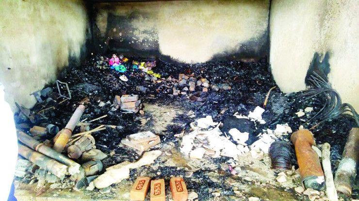शार्टसर्किट से हार्डवेयर की दुकान में लगी आग, सामान जलकर खाक