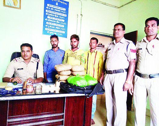 ओडिशा बार्डर से गांजा तस्करी कर ला रहे थे रायगढ़, सरिया बस स्टैंड में पकड़ाए, आरोपी भेजे गए जेल