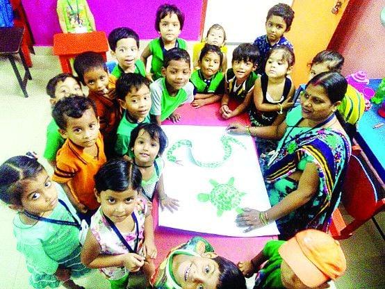 उत्साह के साथ बच्चों ने मनाया ग्रीन-डे,दिया हरियाली का संदेश