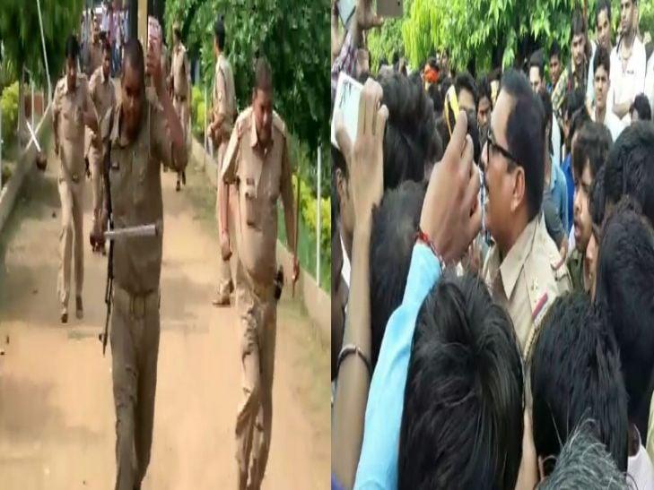 आईटीआई की परीक्षा दे रहे छात्रों का बवाल, जमकर पथराव, पुलिस को भी खदेड़ा