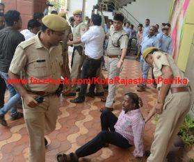 jewellery tax protest : कोटा बंद: रिलायंस मैनेजर को पीटा तो पुलिस ने व्यापारियों की कर दी धुनाई
