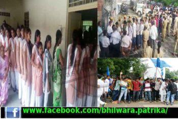 Video:भीलवाड़ा छात्र संघ चुनाव: हुड़दंग के बीच मतदान शुरू, तीन घंटे में 40 फीसदी मतदान