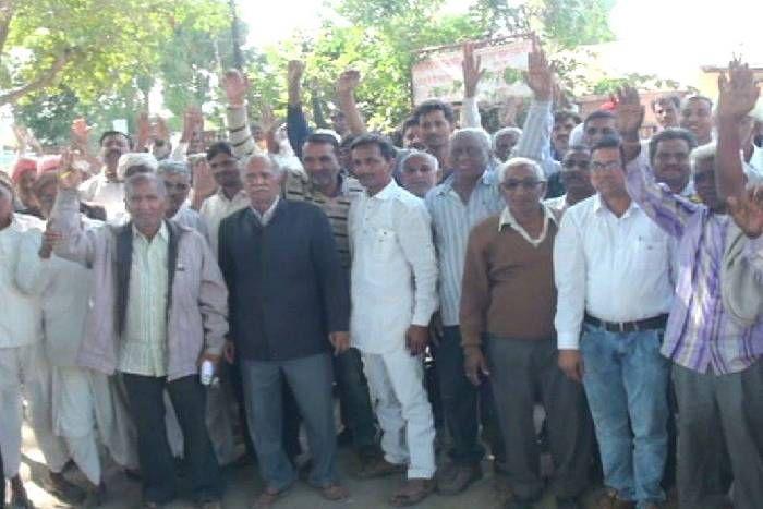बिजली समस्या को लेकर किसानों का विरोध-प्रदर्शन