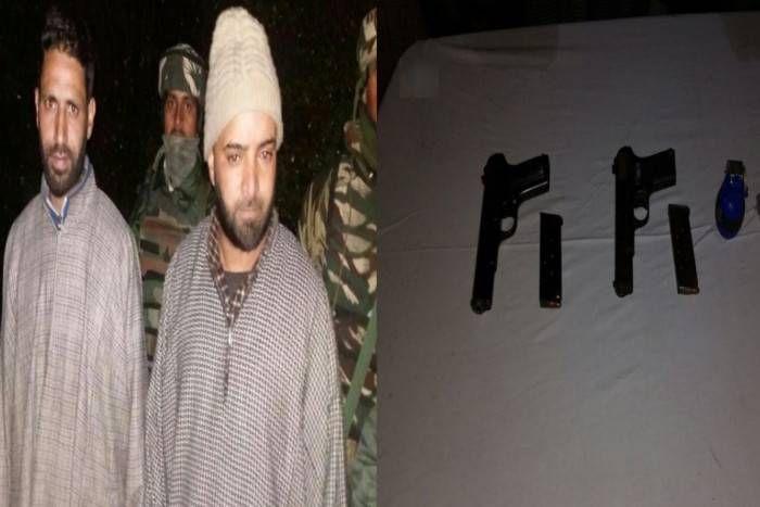 अब जैश-ए-मोहम्मद के दो गुर्गे आए सुरक्षा बलों की गिरफ्त में, हथियारों के साथ धर दबोचा
