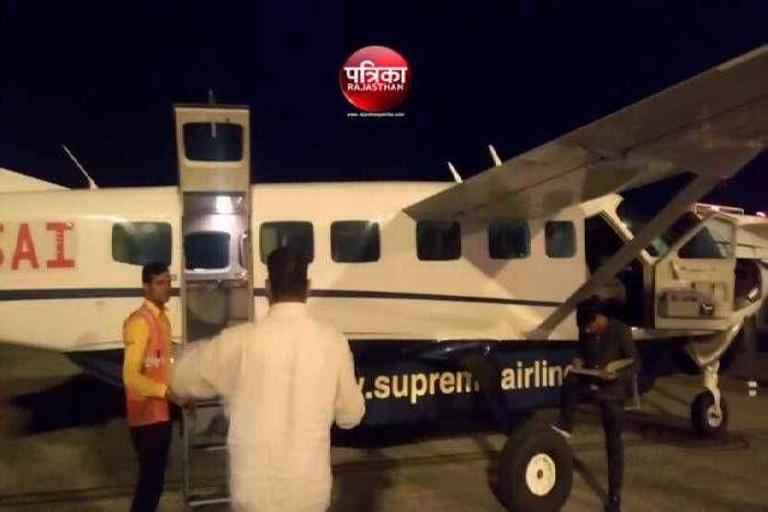 उदयपुर के डबोक एयरपोर्ट पर फ्लाइट का टायर फटा, क्रेश होते-होते बची फ्लाइट, 9 यात्री थे सवार, सभी सुरक्षित