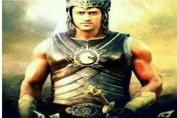 महेंद्र सिंह धोनी बन गए रियल 'बाहुबली', माही का 'महेंद्र बाहुबली' अवतार सोशल मीडिया पर हुआ वायरल