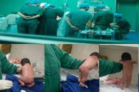 अजब-गजब: नवजात शिशु के चलने का वीडियो हुआ वायरल