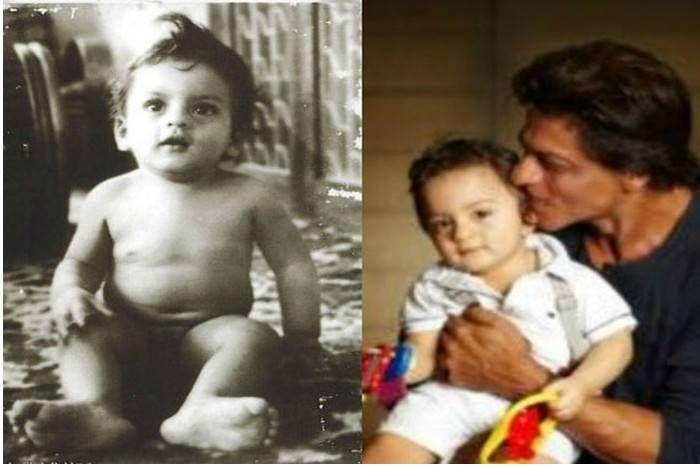 पापा शाहरुख खान की 'कार्बन कॉपी' है अबराम, पापा-बेटे के इस 'ट्रू-कॉपी' लुक की फोटो हुई वायरल