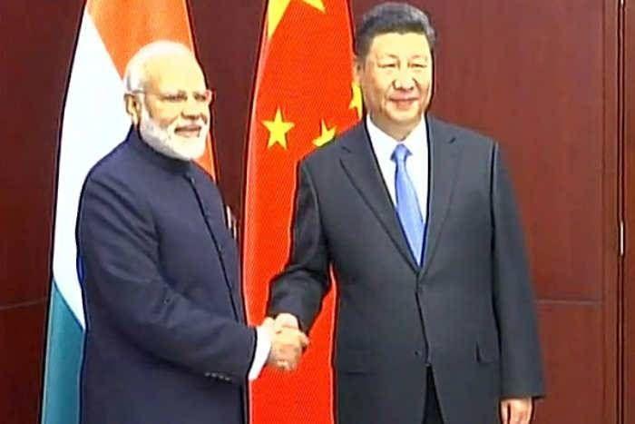 PM माेदी ने चीनी राष्ट्रपति शी जिनपिंग से की मुलाकात, SCO में भारत के समर्थन के लिए दिया धन्यवाद