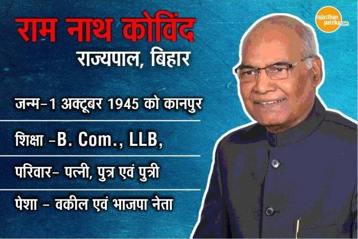 राष्ट्रपति चुनावः रामनाथ कोविंद होंगे NDA उम्मीदवार, जानें उनके जीवन से जुड़ा हर पहलू