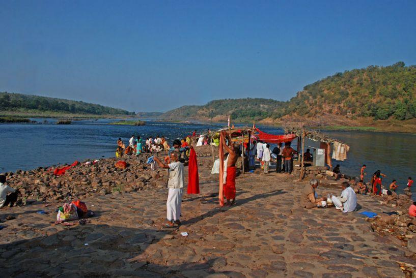 Image result for narmada nadi omkareshwar
