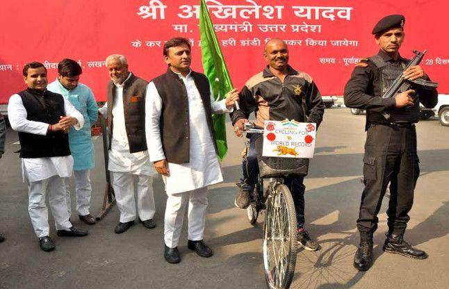 मिशन वर्ल्ड रिकॉर्ड पर निकला आजमगढ़ का  शेर , CM ने दिखाई हरी झंडी